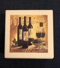 Wine Coasters in box 4 wood coasters white box Wine Glasses Design