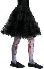gris para niña Sangriento Zombie Halloween Terror Disfraz Medias 8-12