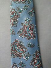"Doneagle Mens Tie All Silk Blue Paisley 52"" x 2.5"""