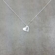 Heart Pit Bull Dog Silver Plated Necklace Gift Box Canine Breed Pet Love Animal