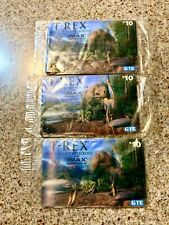 Vintage GTE T-REX IMAX Hologram 1998 Collectible Prepaid Phone Card Sealed