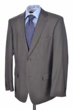 HUGO BOSS Recent Taupe Gray Micro Pin 100% Wool Jacket Pants SUIT Mens - 42 R