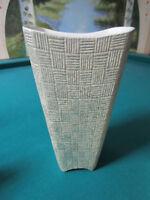 "Shawnee Pottery  vase 1408 WAIVE DECOR 8 1/2 X 4 X 6"" original"