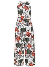 Quiz Crepe Tropical Print Jumpsuit Size UK 20 Lf083 SS 09