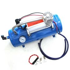 150PSI AIR COMPRESSOR WITH 6 LITER TANK DC 12V FOR TRAIN HORNS MOTORHOME TIRES