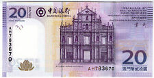 **   MACAO  (Macau)     20  patacas   2008   p-109    UNC   **