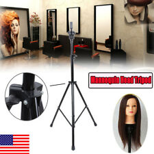 Mannequin Head Tripod Hairdressing Training Head Holder Hair Wig Stand