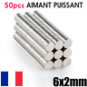 Lot 50 Aimants Puissant Neodyme 6mm x 2mm N50 Photo,Magnet,Fimo,Scrapbooking 6x2