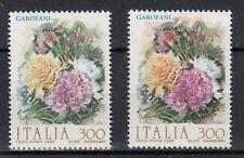 ITALIA VARIETA'  FIORI 1982 GAROFANI CON COLORE SFONDO CHIARO E FIORI DIVERSI