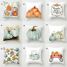 Fall Halloween Pumpkin Pillow Case Waist Throw Cushion Cover Sofa Home Decor