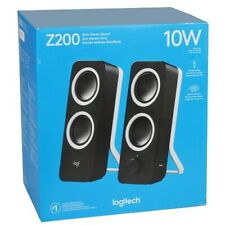 Logitech Z200 2-Channel Multimedia Speaker System w/Headphone & Aux Jack (Black)