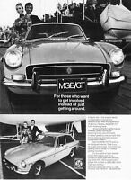 """1972 MG MGB/GT Coupe 2 photo """"Want to Get Involved"""" vintage promo print ad"""
