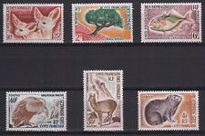 COTE DES SOMALIS COSTA DEI SOMALI 1962  6 Val 305-10 Cat Yvert MNH** Fauna Flora