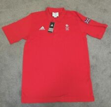 "TEAM GB LONDON 2012 ADIDAS STELLA McCARTNEY RED POLO SHIRT - SIZE  46"" - NEW"
