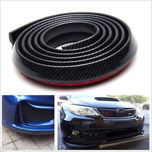 2.5m Black Carbon Fiber Vehicle Bumper Lip Splitter Spoiler Skirt Protector Chin