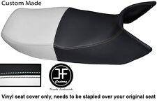 BLACK & WHITE VINYL CUSTOM FITS HONDA PAN EUROPEAN ST 1100 DUAL SEAT COVER ONLY