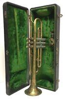 """Vintage """"Frank Holton Co. Elkhorn, WI."""" Trumpet, in Original Hard Case 77230"""