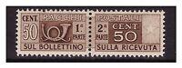 ITALIA 1947 - PACCHI POSTALI   50  Cent.   RUOTA  NUOVO **