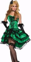 Saloon Girl Costume Dress Sexy Womens Green Western Westworld Can Can Burlesque