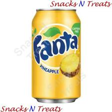 Fanta Pineapple Flavour Soft Drink USA 12 X 355ml Cans - Bulk Party Pack