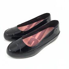 Fitflop Due Patent Leather Ballet Platform Flat Cap Toe Comfort Shoes EU 37 US 6