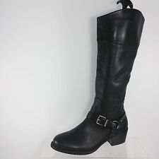 Vince Camuto Black Leather Knee Boots 8 M