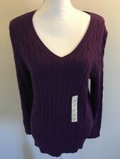Studio Works Woman Long Sleeve V Neck Pure Long Sleeve Sweater Plus Size 1x NWT