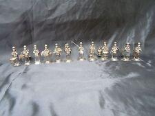 Série statuettes sculptures personnages asiatiques mandarin Silver sterling
