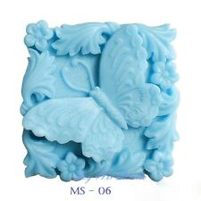 Silicone Soap/Candle Mold/Mould One Cavity - Square Butterfly
