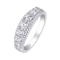 Eternity Ring Wedding Engagement Band For Women 925 Sterling Silver Cz Size 5-10