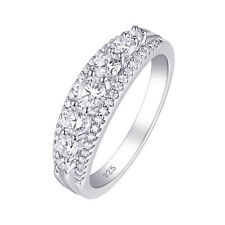 Eternity Ring Wedding Engagement Band For Women 925 Sterling Silver Cz Size 5-12