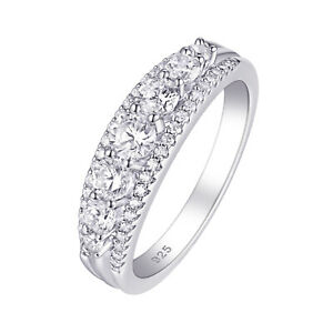 Eternity Ring Wedding Engagement Band For Women 925 Sterling Silver AAAA Cz 5-12