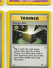 ENERGY ARK Trainer - 75/75 - Pokemon - Neo Discovery - NM = Buy more and save!