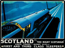 New 30x40cm Night Scotsman train reproduction vintage metal advertising sign