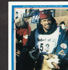 Iditarod Dogsled Race Gary Whittemore 1992 AUTOGRAPHED Signed Alaska Musher Card