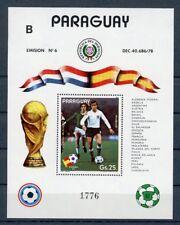 Paraguay MiNr. Block 372 postfrisch MNH Fußball WM 1982 (Fuß740