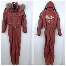 b8fc69e055a9 Bogner Womens Snow Ski Suit Size 6 Joan Thylmann Brown Southwestern Fur Hood