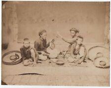 Photo 1880 musicien Anamites (Indochine)