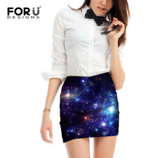 Galaxy Space Printed Women Mini Skirt Breathable Ladies Girls Office Skirts