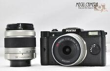 [EXC++++]PENTAX Pentax Q 12.4 MP Digital Camera - Black Kit w/ 01&02 Lens (M525)
