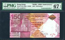 Hong Kong, HSBC 2015 PMG Superb Gem UNC 67 EPQ 150 Dollars *Commemorative*