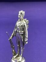Nice quality silver figure of a soldier London 1946