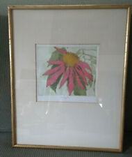 Walter Cleveland Original Color Etching Signed Poinsettia
