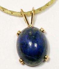 19thC Antique 3 1/3ct Lapis Lazuli Ancient Gem of Heaven Gold Fill Pendant