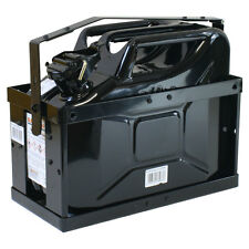 Stahlblechkanister schwarz 10 Liter +  Halterung Benzinkanister Reservekanister