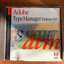 Adobe Type Manager Deluxe 4.6 Macintosh Classic Umgebung, OVP, gebraucht