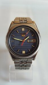 SEIKO 5 7009-876J STAINLESS STEEL AUTOMATIC DAY/DATE MENS WATCH. GREAT CONDITION