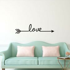 Love Arrow Bedroom Decor Wall Art Decal Words Lettering Sticker Removable