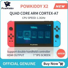 "POWKIDDY X2 7 ""IPS screen handheld game consol 11 simulator 2500 games"