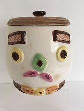 "Vintage Ceramic Cookie Jar 8"" Tall"